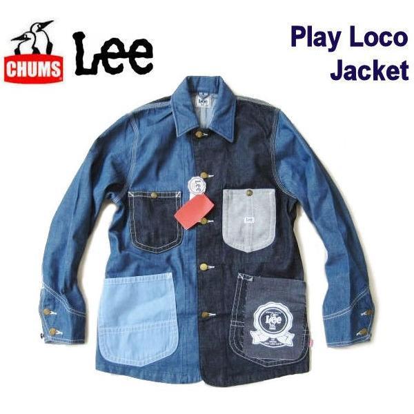 チャムス/CHUMS x Lee コラボレーション 【デニムカバーオール/プレイロコジャケット】 Play Loco Lacket CH04-1131 クレイジー fifth