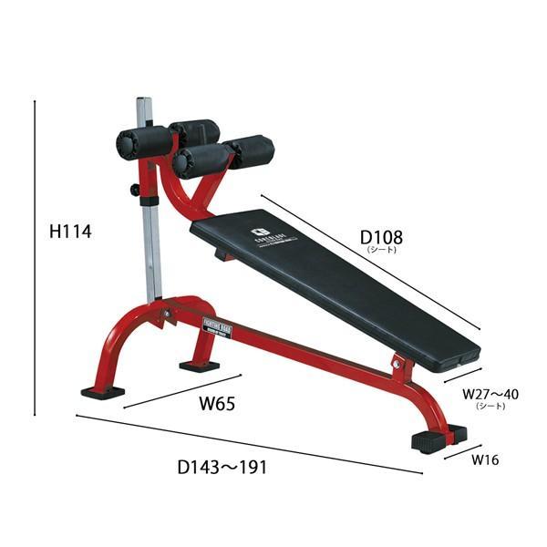 クランチベンチ−TRUST / 腹直筋 内腹斜筋 ダンベル トレーニング シットアップ レッグレイズ 腹筋 筋トレ*|fightingroad|05