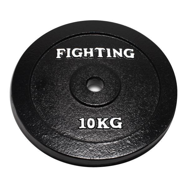 【15日ポイント10倍】プレート 単品 ブラックタイプ10kg バーベル ダンベル 兼用 ファイティングロード