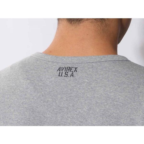 【ポイント10倍】アヴィレックス AVIREX デイリー ショートスリーブ Vネック ティーシャツ DAILY S/S RIB V NECK T 6143501|figure-corners|14