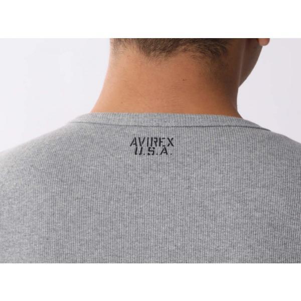 【ポイント10倍】アヴィレックス AVIREX デイリー テレコ クルーネック 長袖 ティーシャツ DAILY L/S RIB CREW NECK T 6153481|figure-corners|13