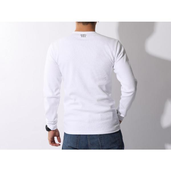 【ポイント10倍】アヴィレックス AVIREX デイリー テレコ クルーネック 長袖 ティーシャツ DAILY L/S RIB CREW NECK T 6153481|figure-corners|19