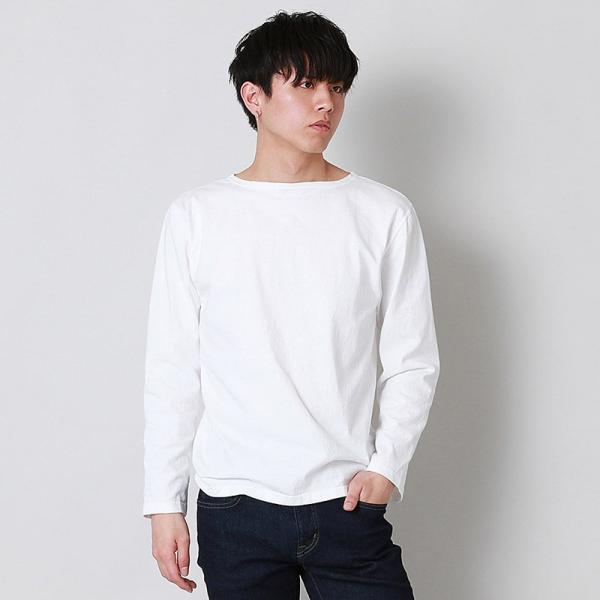 グッドオン GOOD ON  ロングスリーブ ボートネック Tシャツ L/S BOATNECK TEE - GOLT1901 メンズ トップス|figure-corners|02
