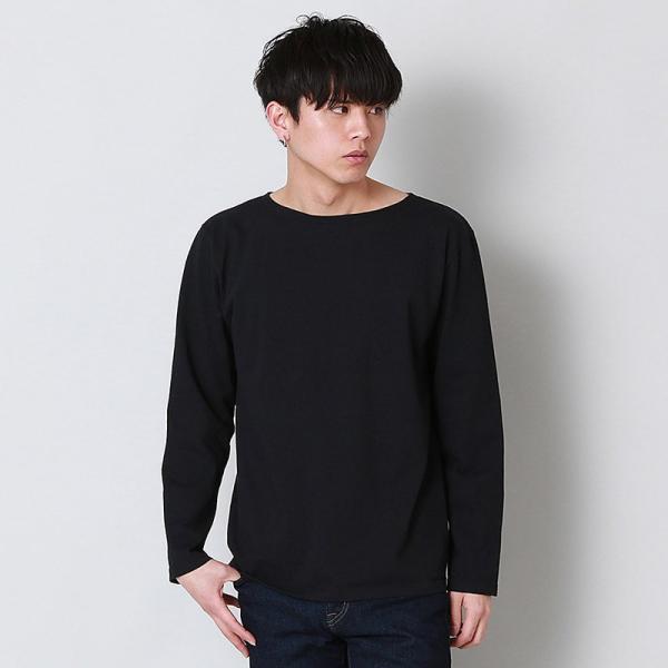 グッドオン GOOD ON  ロングスリーブ ボートネック Tシャツ L/S BOATNECK TEE - GOLT1901 メンズ トップス|figure-corners|03