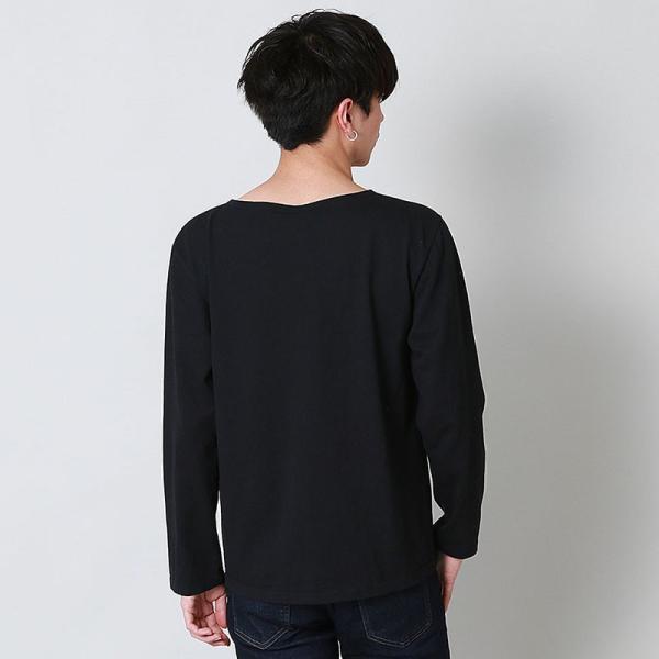 グッドオン GOOD ON  ロングスリーブ ボートネック Tシャツ L/S BOATNECK TEE - GOLT1901 メンズ トップス|figure-corners|04