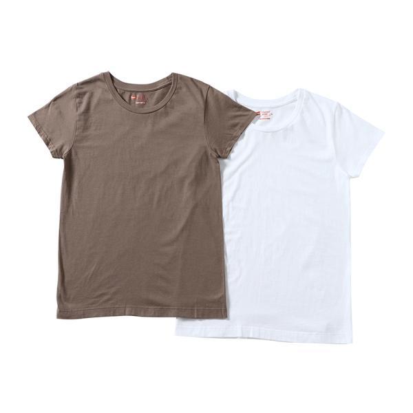 ヘインズ HANES Tシャツ 2P ジャパンフィット JapanFit forHER クルーネック crewneck T HW5320 レディース カットソー figure-corners