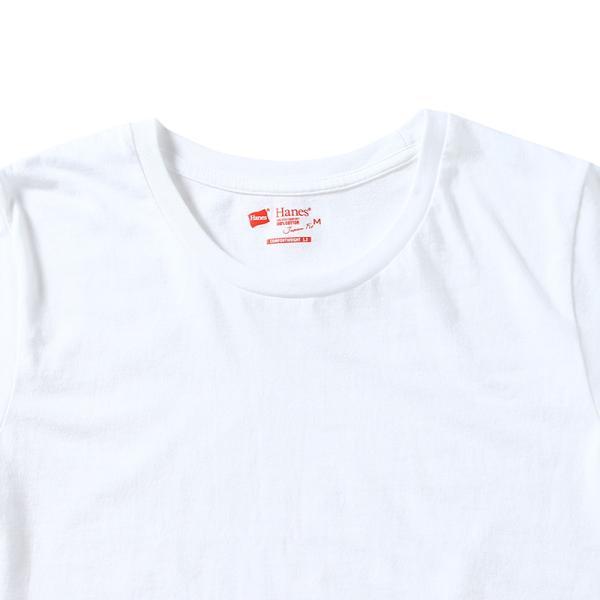 ヘインズ HANES Tシャツ 2P ジャパンフィット JapanFit forHER クルーネック crewneck T HW5320 レディース カットソー figure-corners 03