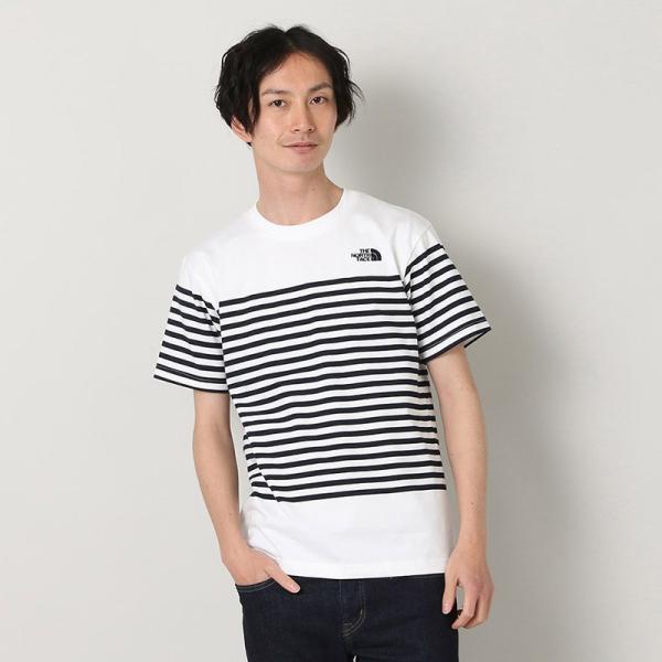 4eba0aba9b612 ザ ノースフェイス THE NORTH FACE Tシャツ ショート スリーブ パネル ボーダーティー S/S ...