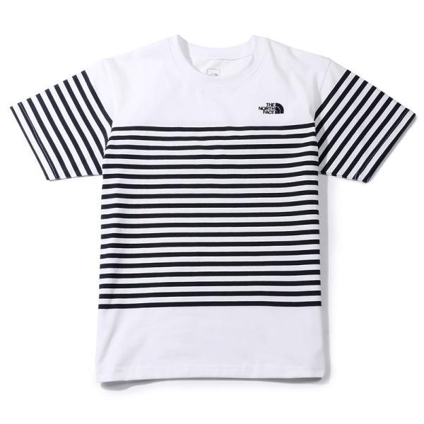 f63ed0e04e767 ... ザ ノースフェイス THE NORTH FACE Tシャツ ショート スリーブ パネル ボーダーティー S/S ...