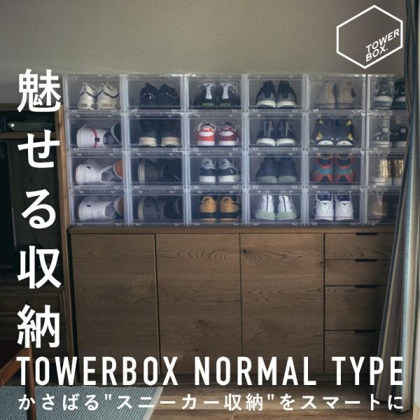 【ポイント10倍】タワーボックス TOWER BOX シューズボックス NORMAL TYPE TB0001 下駄箱 収納|figure-corners