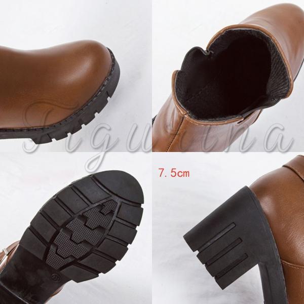 ショートブ蜘`ツ サイドゴアブーツ レディースシューズ ブーティ 裏起毛 裏ボア付き 靴 チャンキーヒール 履きやすい 春秋冬 美脚