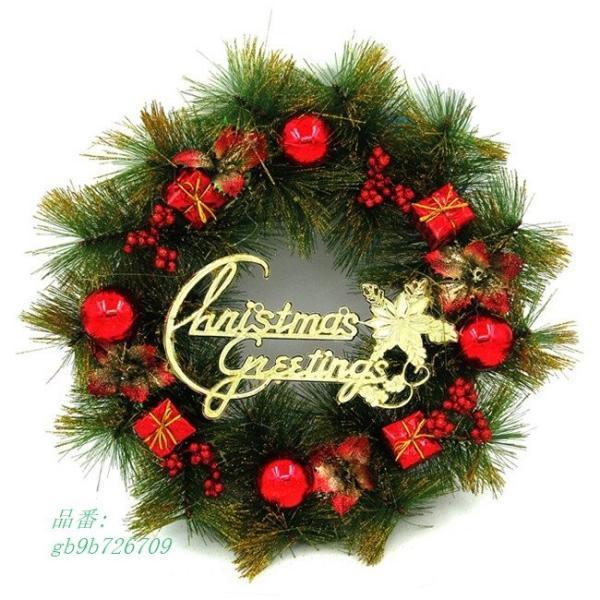 christmas クリスマス クリスマスリース 玄関飾り 花輪 クリスマス装飾 ドア飾り|fihone|03