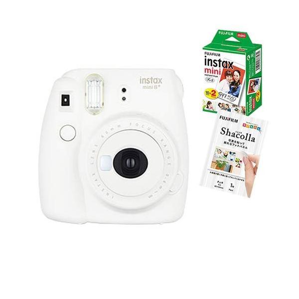 【ラッピングBOXセット】フジフイルム インスタントカメラ チェキ instax mini 8+ バニラ (FUJIFILM)