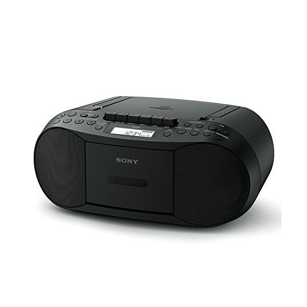 ソニー SONY CDラジカセ レコーダー CFD-S70 : FM/AM/ワイドFM対応 録音可能 ブラック CFD-S70 B