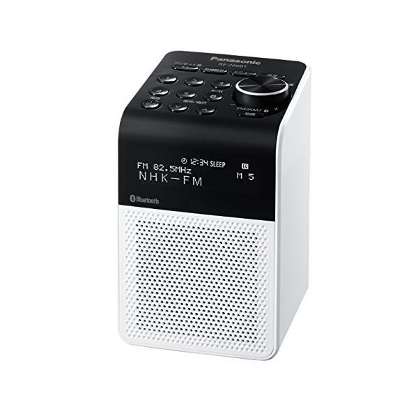 パナソニック ラジオ FM/AM/ワイドFM/Bluetooth対応 ホワイト RF-200BT-W