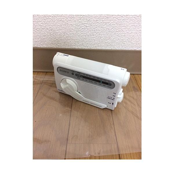 SONY 防災用 手回し充電 FM/AMポータブルラジオ ホワイト ICF-B02(W) fiinet