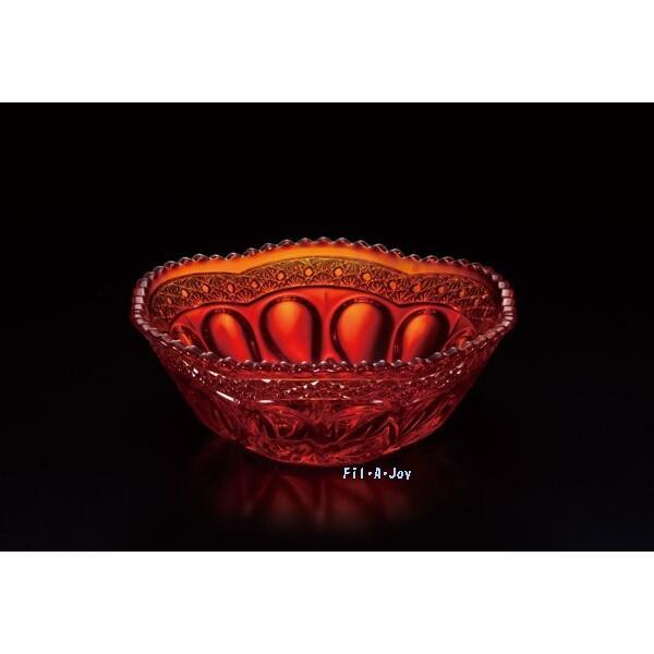 ガラス鉢小鉢赤3個セットハンドメイド贈答用引き出物プレゼントに適アデリア庄内クラフト赤の器F-70391