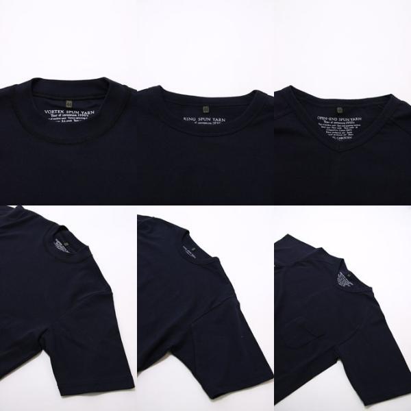 fe6987c6d6033c ... ナイジェルケーボン Nigel Cabourn 3-PACK GYM TEE Navy 3パックジムTシャツ ...