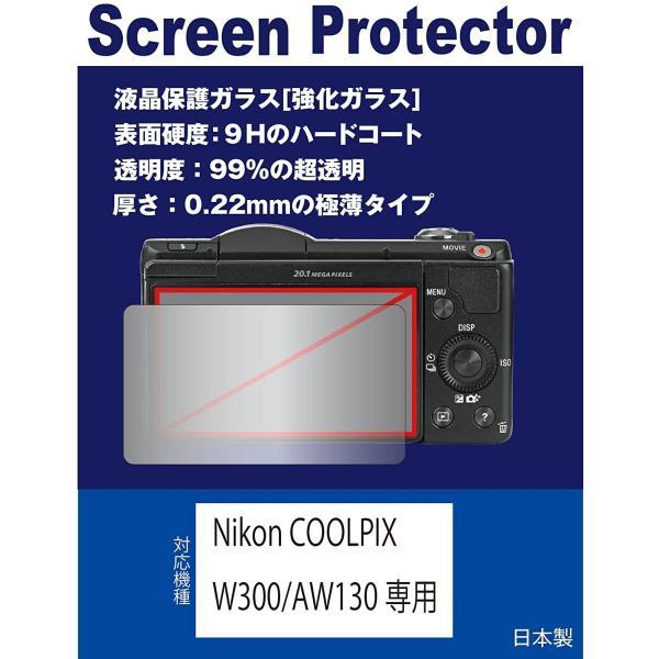 Nikon COOLPIX W300/AW130専用 液晶保護ガラス(強化ガラスフィルム)