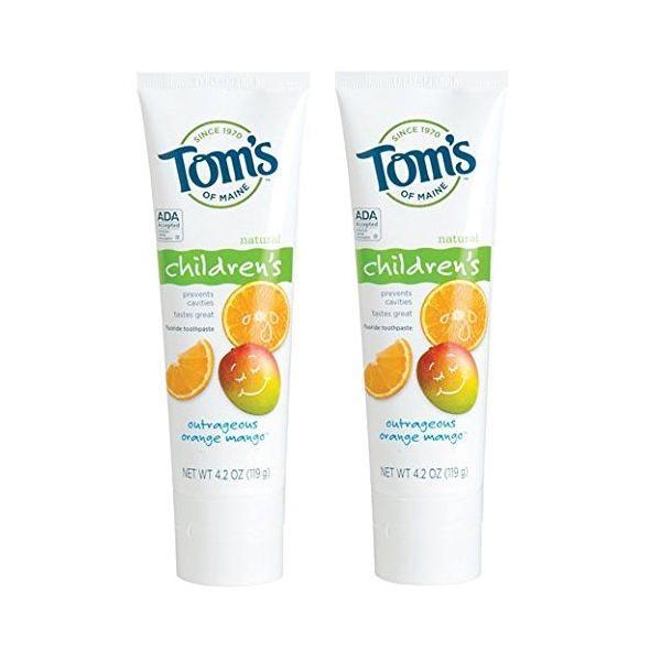 [お得な2個セット] Tom's of Maine オレンジマンゴ 子供用 ハミガキ粉 119g/4.2oz