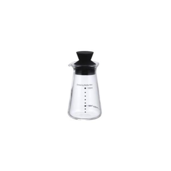 iwaki (イワキ) ドレッシングボトル ミニ 5013-BK ブラック いわき 岩城 保存容器 耐熱ガラス 調味料 醤油 ソース