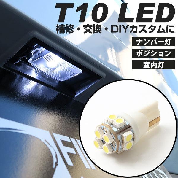 LED ナンバー灯 T10 ウェッジ球 送料無料 ホワイト 白色 1個|finepartsjapan
