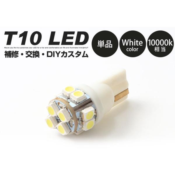 LED ナンバー灯 T10 ウェッジ球 送料無料 ホワイト 白色 1個|finepartsjapan|02