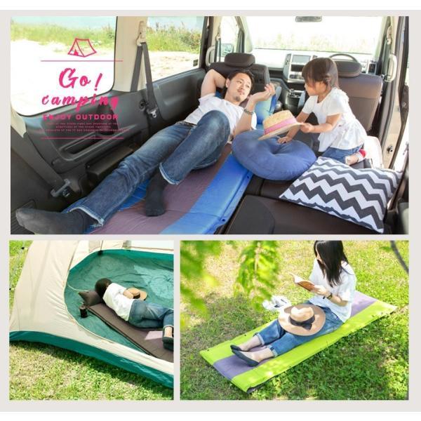 車中泊マット エアマット ハスラー アウトドア キャンプ テントマット BBQ バーベキュー 車中泊マット 寝具 キャンプマット キャンピングマット 自動膨張|finepartsjapan|12