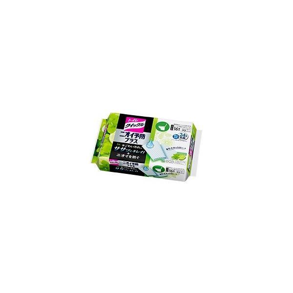-「花王」 トイレクイックル ニオイ予防プラス シトラスミントの香り (つめかえ用) ジャンボパック 16枚入(8枚入×2個入) 「日用品」
