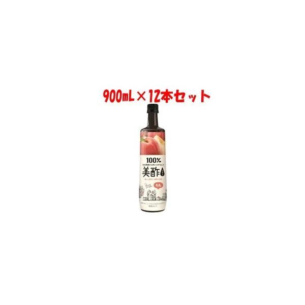 「シージェイジャパン」 美酢 (ミチョ) もも 900mL×12本セット 「フード・飲料」