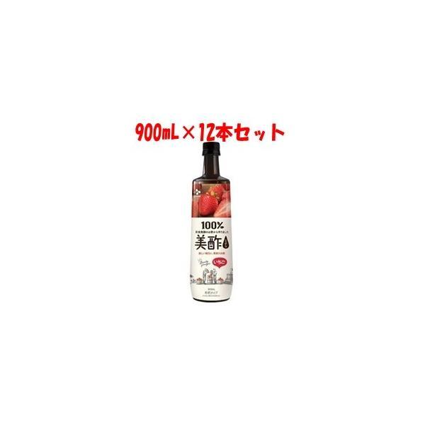 「CJ FOODS JAPAN」 美酢 (ミチョ) いちご 希釈タイプ 900mL×12本セット 「フード・飲料」