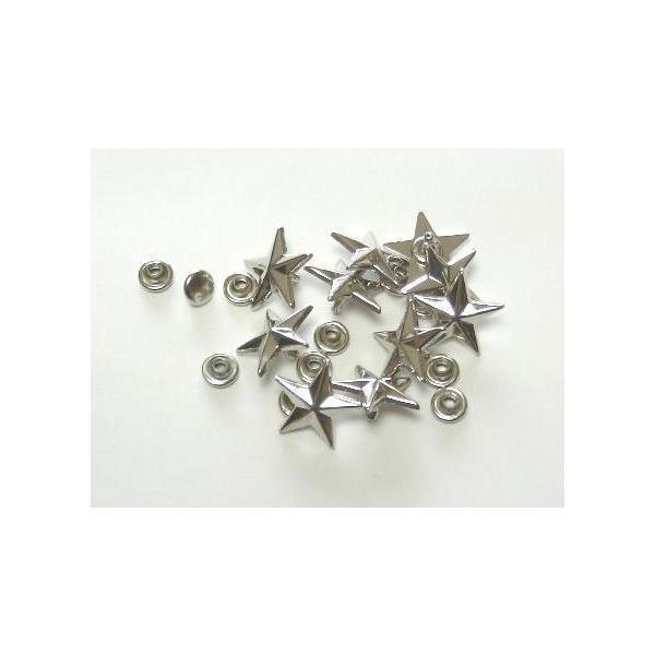 飾りカシメ 星(カット) 13mm 真鍮メッキ