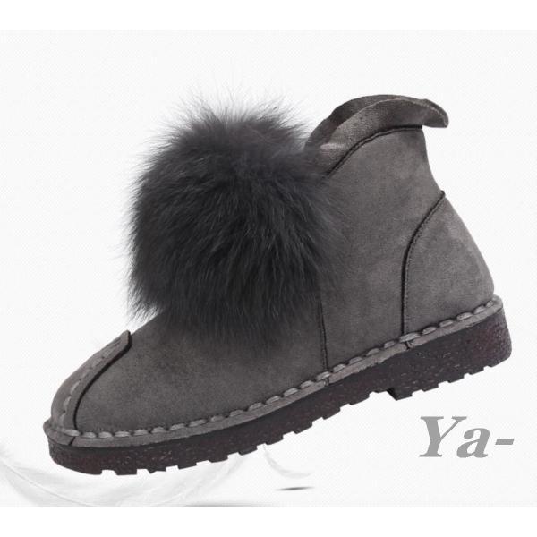 送料無料 秋 冬 ショートブーツ 通勤 お出かけ ファー おしゃれ ローヒール ブーツ
