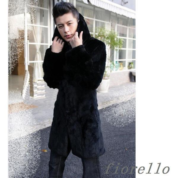 ac086990ce0c1 毛皮コート 人気 上質 コート ファーコートメンズ ロングコートアウター ...