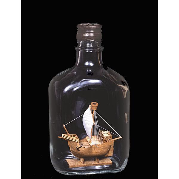 【17日最大29.5%還元】 (取寄品) ウッディジョー 木製模型 ボトルシップ No.3 カタロニア船 WoodyJOE
