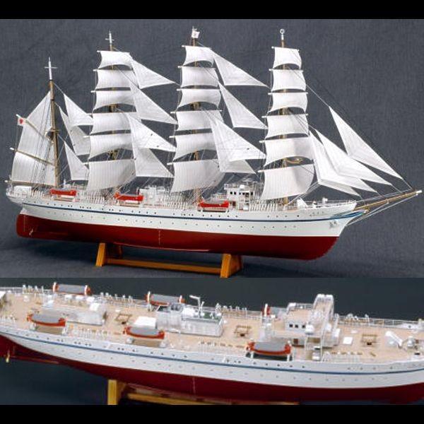 1/160 木製帆船模型 新日本丸 (帆付)