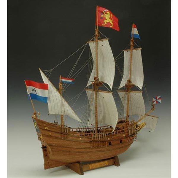 【17日最大29.5%還元】 (取寄品) ウッディジョー 木製模型 1/40 木製帆船模型 ハーフムーン 古代史 海洋