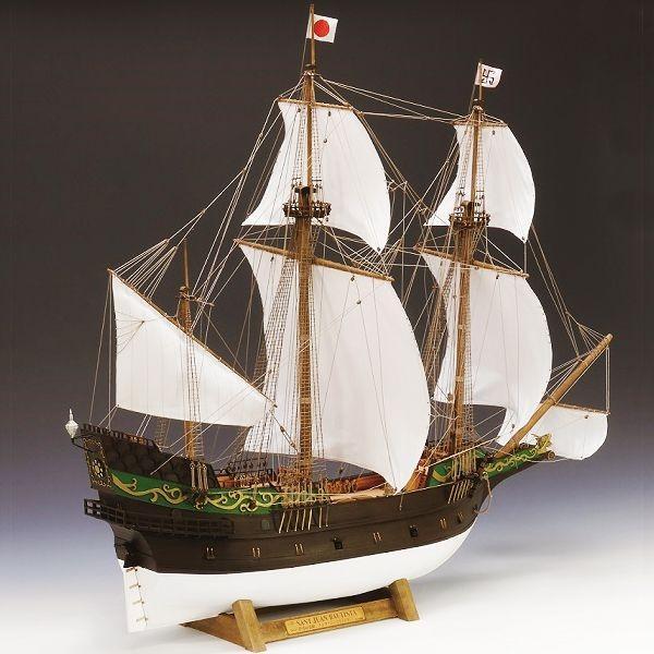 【17日最大29.5%還元】 (取寄品) ウッディジョー 木製模型 1/80 サン・ファン・バウティスタ スケールモデル 船 船舶
