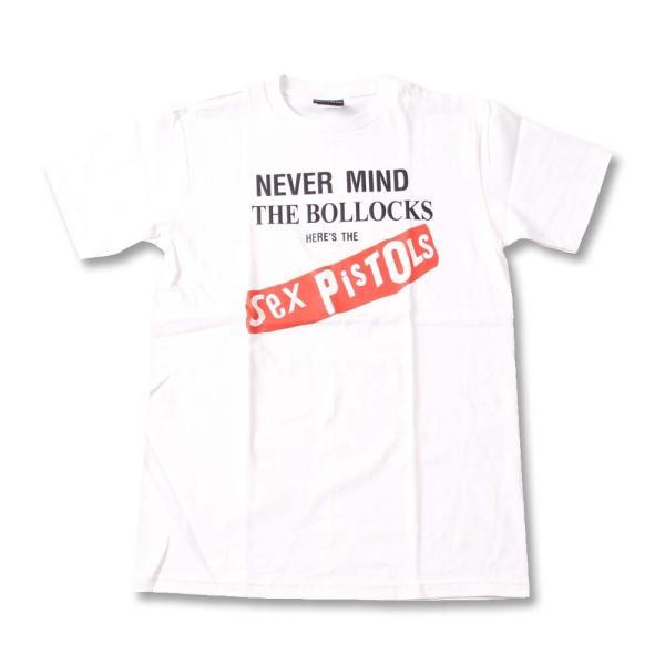 Tシャツ バンドTシャツ ロックTシャツ 半袖 (W) セックスピストルズ SEX PISTOLS 21 WHT S/S 白
