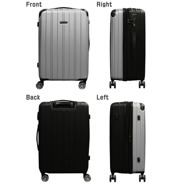 スーツケース M/MSサイズ 中型/セミ中型  超軽量  キャリーケース ファスナータイプ キャリーバック|first-shop|07