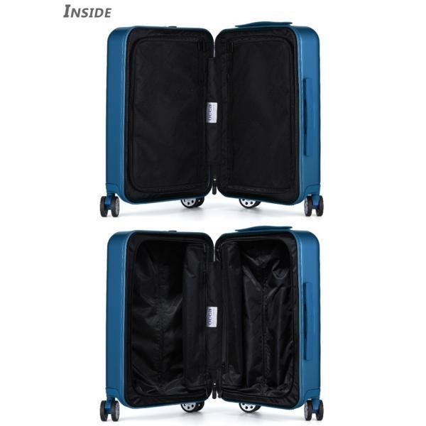 スーツケース キャリーバッグ  M サイズ 高級PC100%ボディ超軽量 YKKファスナー Wキャスター TSAロック|first-shop|14
