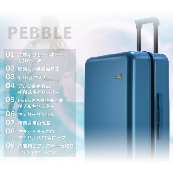 スーツケース キャリーバッグ  M サイズ 高級PC100%ボディ超軽量 YKKファスナー Wキャスター TSAロック|first-shop|05
