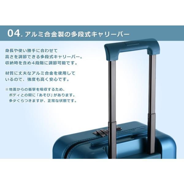 スーツケース キャリーバッグ  M サイズ 高級PC100%ボディ超軽量 YKKファスナー Wキャスター TSAロック|first-shop|08