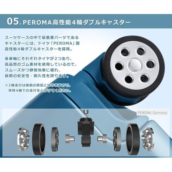 スーツケース キャリーバッグ  M サイズ 高級PC100%ボディ超軽量 YKKファスナー Wキャスター TSAロック|first-shop|09