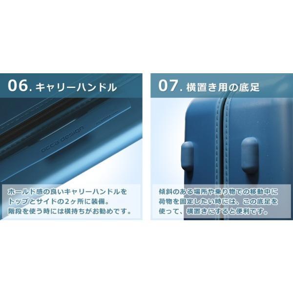 スーツケース キャリーバッグ  M サイズ 高級PC100%ボディ超軽量 YKKファスナー Wキャスター TSAロック|first-shop|10