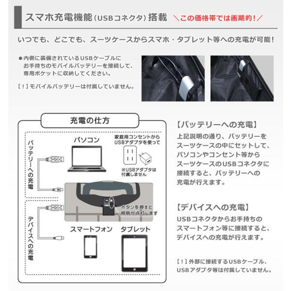 スーツケース スマホ充電機能搭載 USBコネクタ内蔵 機内持ち込み SSサイズ TSAロック キャリーケース キャリーバッグ キャリーバック|first-shop|04