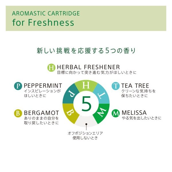 AROMASTIC CARTRIDGE for Freshness(アロマスティック カートリッジ for Freshness)|firstflight|02