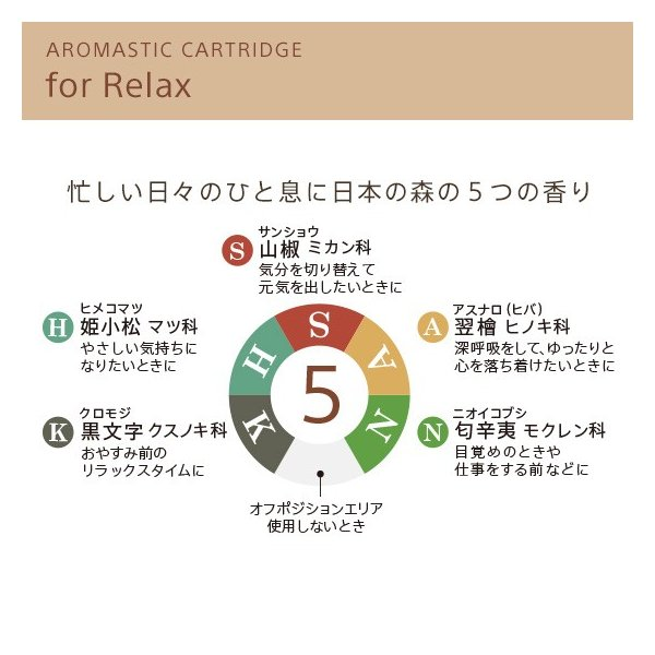 AROMASTIC CARTRIDGE for Relax (カートリッジ for Relax) firstflight 02