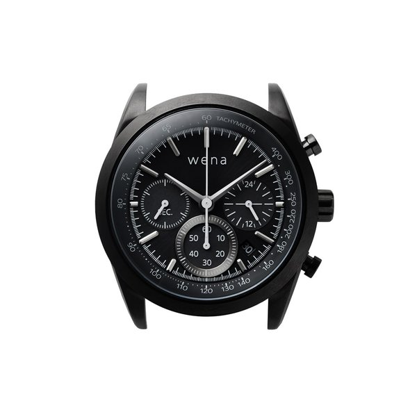 wena wrist Chronograph Solar Premium Black|firstflight