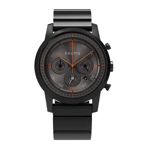 wena wrist Chronograph Premium Black BD -beams edition- + wena wrist Premium Black|firstflight